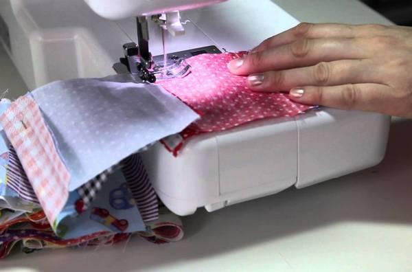 Пошив одеяла бомбонами