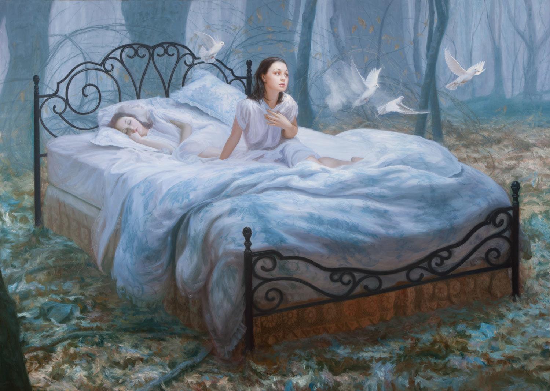 человек видит сновидения