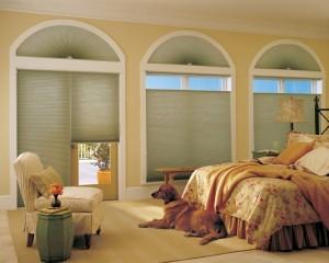шторы плиссе окна сложной формы