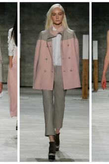 Розово-серые женские наряды в стиле минимализм