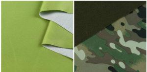 Дублирование дюспо трикотажем (рис.1) и флисом (рис.2)