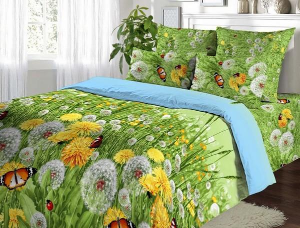 Летнее постельное белье с ярким принтом фото