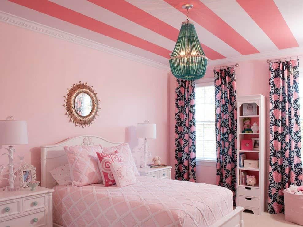 Нежная и уютная комната для девочки в розовых тонах