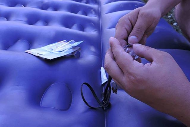 Подготовка к ремонту надувного матраса