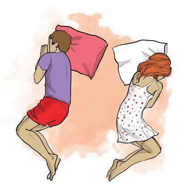Спят спиной друг к другу