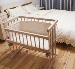 приставная кроватка из дерева