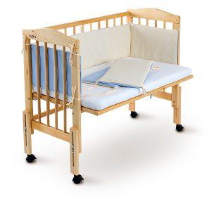 приставная кроватка с защитой
