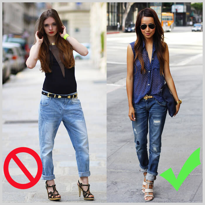 джинсы бойфренды для худых девушек