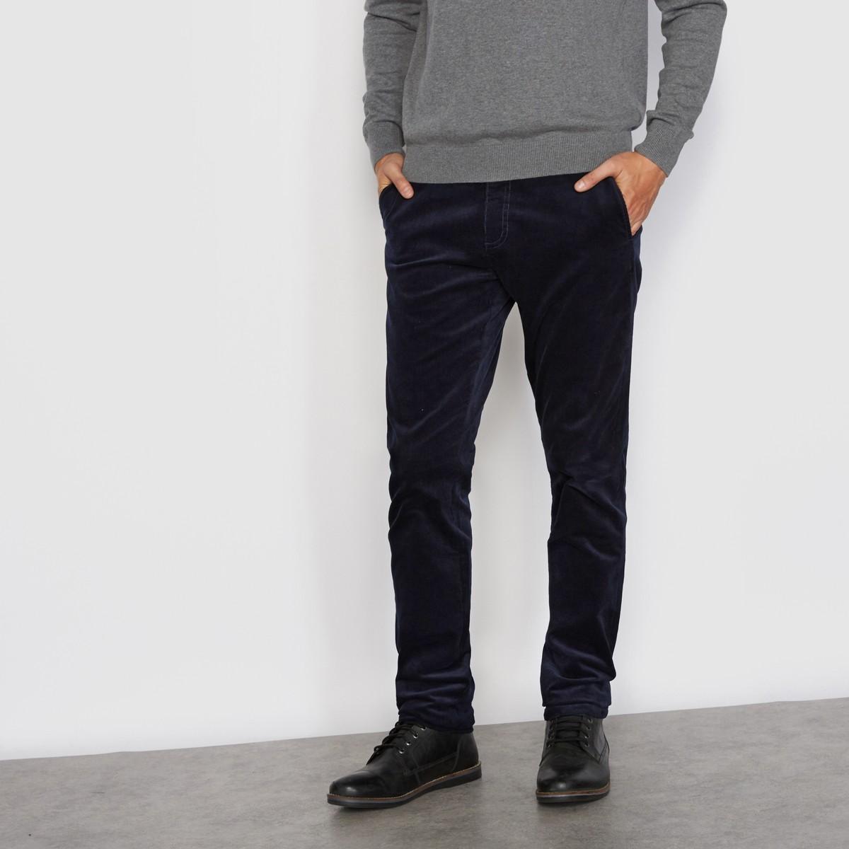 Модные мужские брюки из бархата