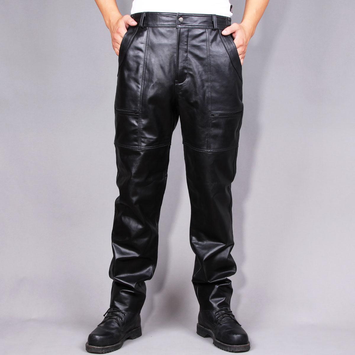 Кожаные мужские штаны