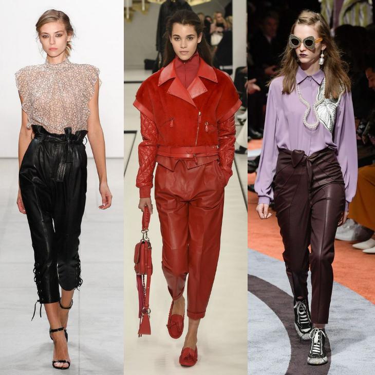 кожаные изделия брюк