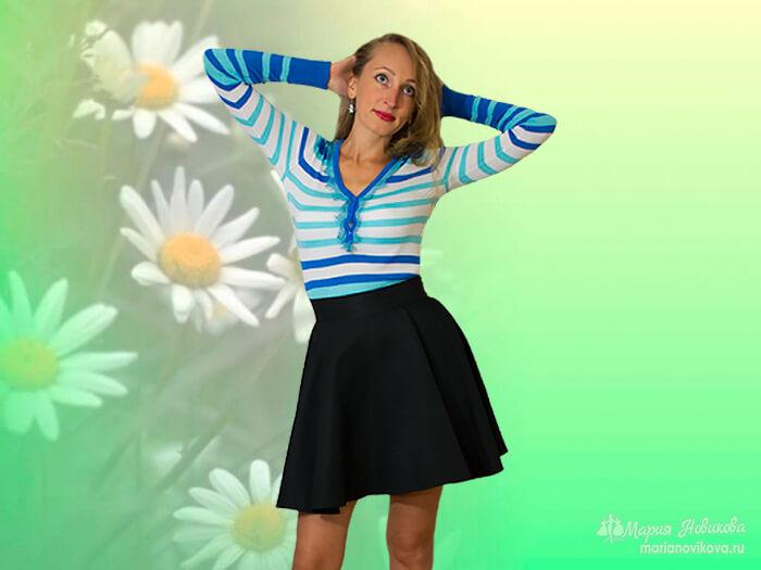 Как сшить юбку солнце своими руками