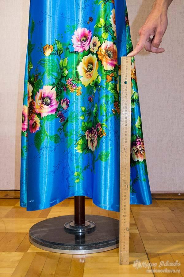 Как сделать примерку юбки солнце самостоятельно
