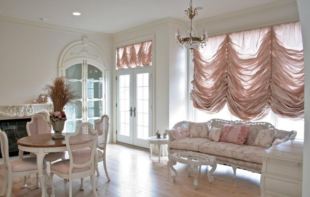 Французские современные шторы для гостиной