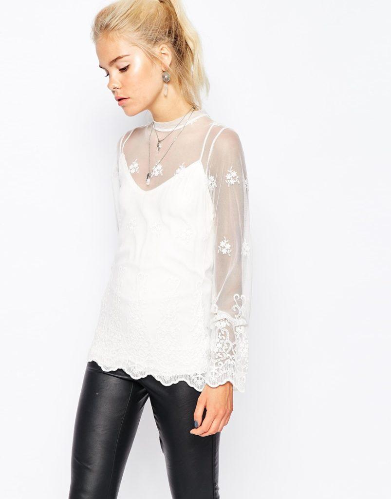 Модная прозрачная блузка