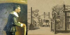 Первые вязанные полотна из пряжи получили на механической машине в середине 16 века. Типы тканей уже тогда отличались по плотности и составу волокон.