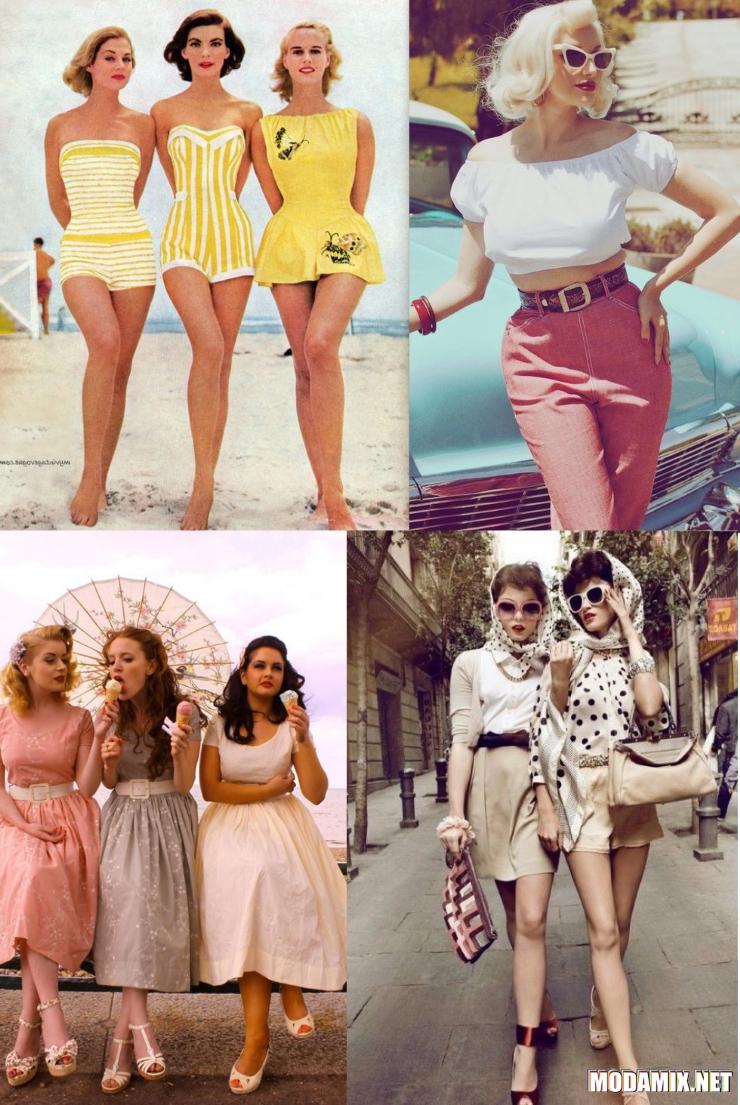 Женские образы в стиле 50-х
