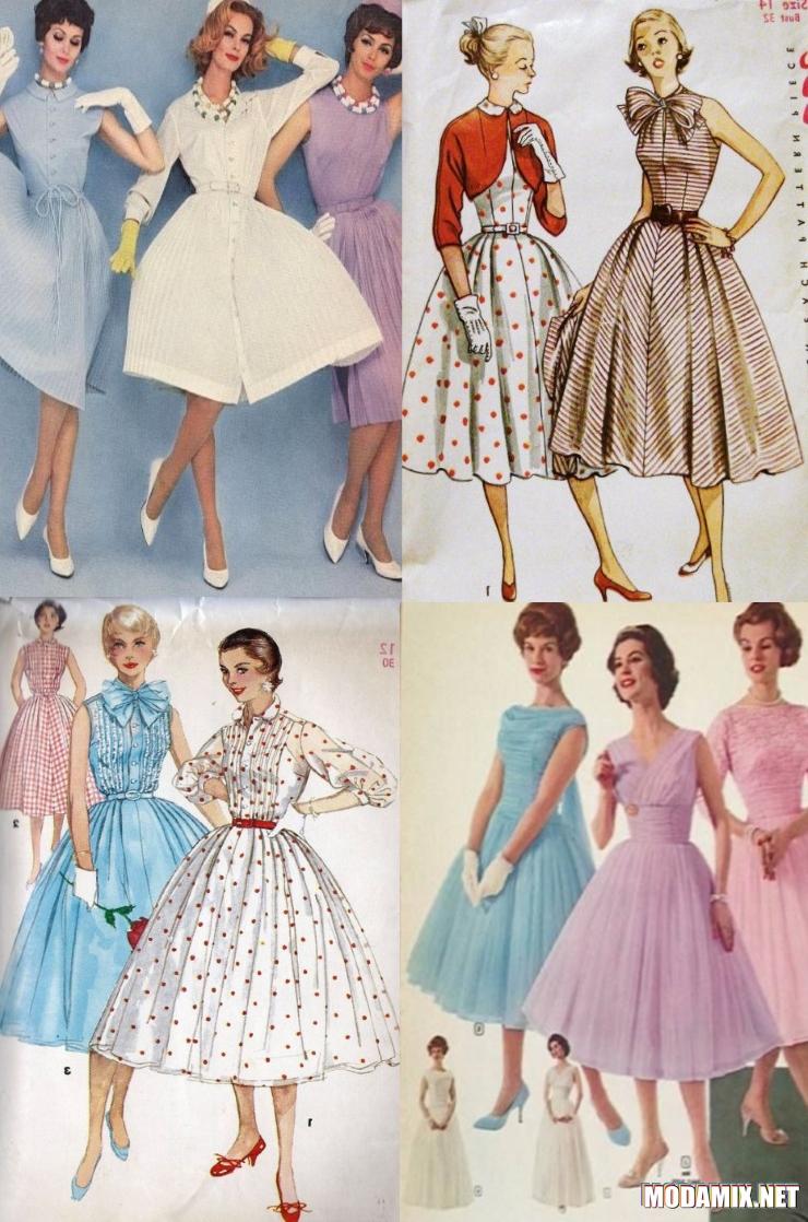 Мода на платья в стиле 50-х