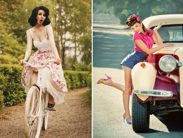Красавица на велосипеде фото