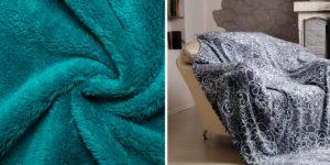 Свойства флиса и структура ткани позволяют создавать настоящие шедевры для дома - текстиль, одеяла, покрывала и пледы, подушки