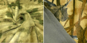 Флис мох (на первом рисунке) и другие похожие рисунки используют в камуфляжной одежде.