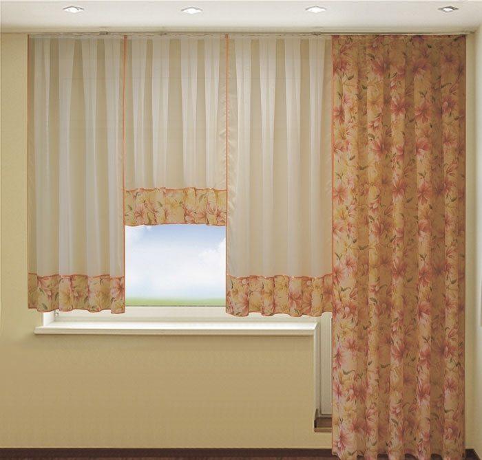 шторы должны органично вписаться в интерьер всей комнаты, а также легко и часто стираться из-за пыли за окном