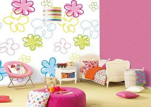 Цвет в интерьере детской комнаты фото