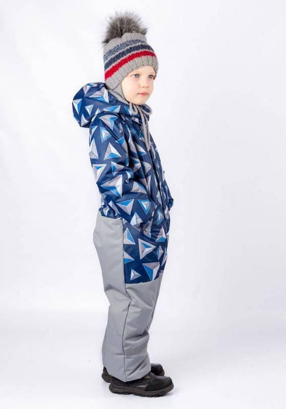 Сплошной зимний комбинезон для мальчика