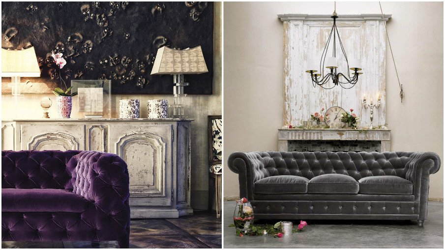 Особенно впечатляюще смотрятся роскошные бархатные диваны