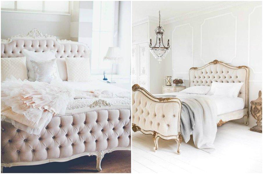 Романтичные кровати, обитые бархатом