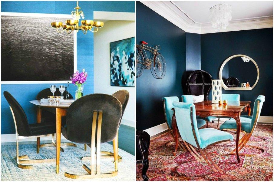 Яркие интерьеры с бархатной мебелью