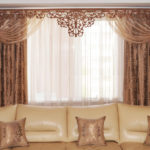 элегантные шторы в дизайне гостиной комнаты