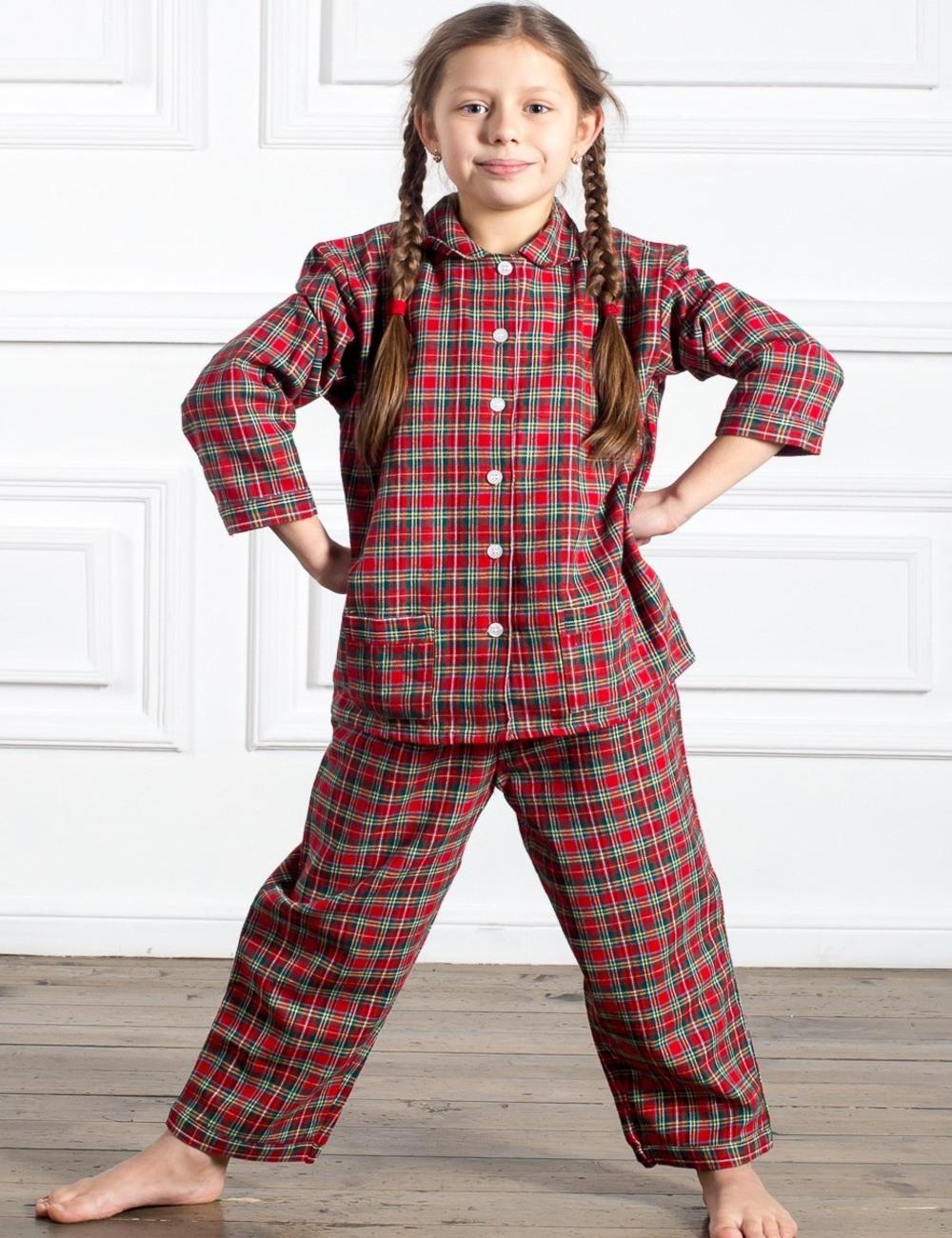 детская пижама из бумазеи
