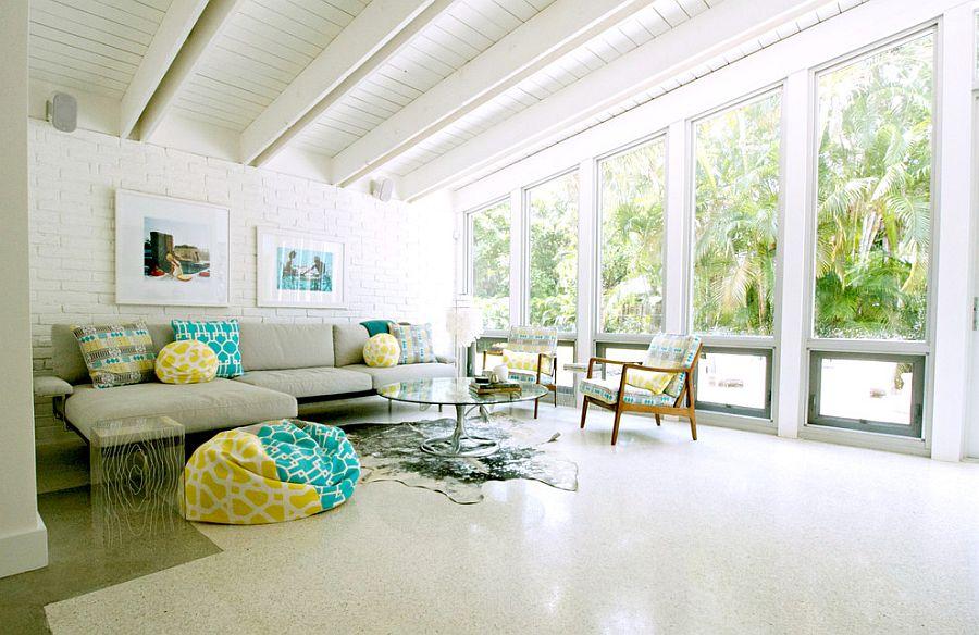 Настоящая свежесть в гостиной (фото Mina Brinkey)