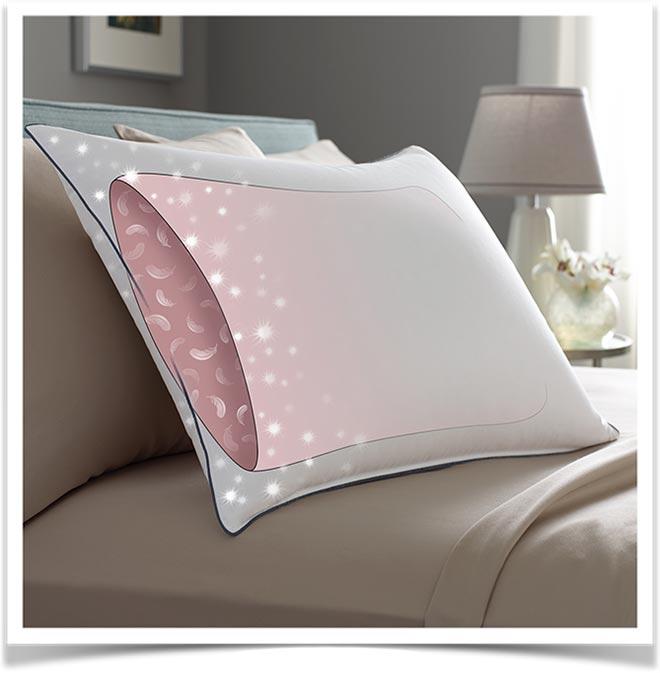 Подушка на кровати схематичная прозрачная