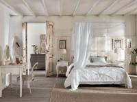 кровать с балдахином в стиле шебби