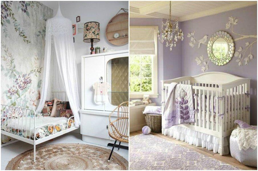 Растительные мотивы в детской комнате в стиле прованс