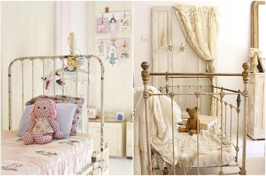 Винтажные кровати в стиле прованс