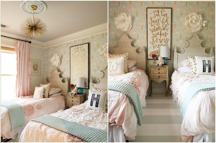 Оформление комнаты в стиле прованс для двоих детей