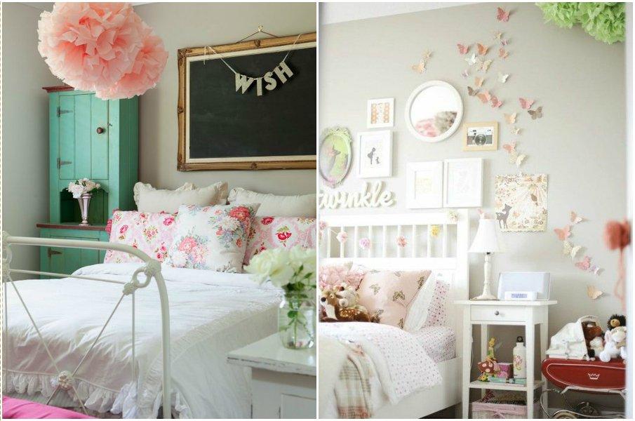 Оригинальное оформление детской комнаты в стиле прованс