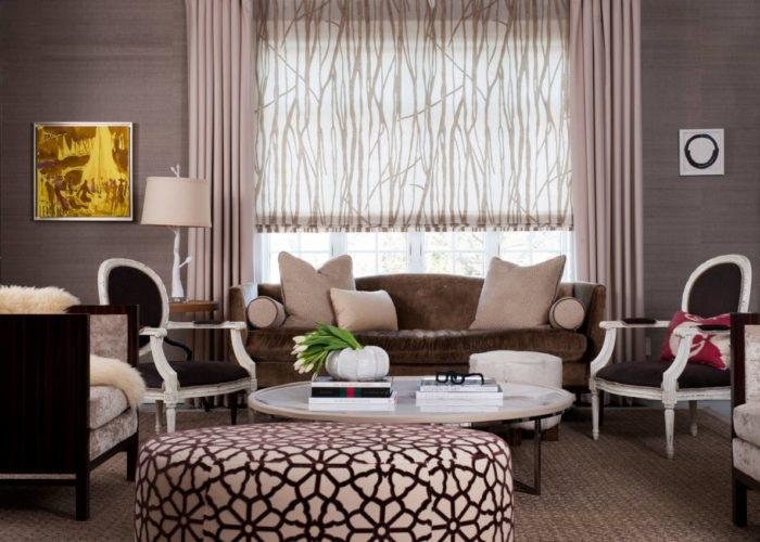 Рулонные шторы – отличный выбор в гостиную