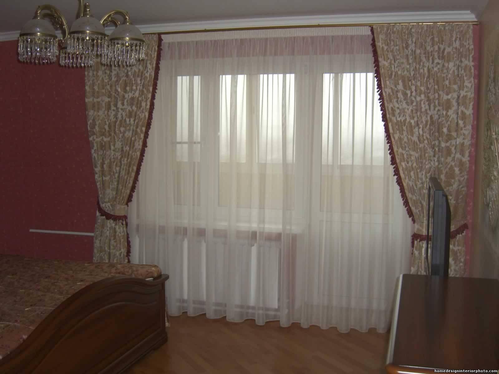 Дизайн штор без ламбрекена в гостиную
