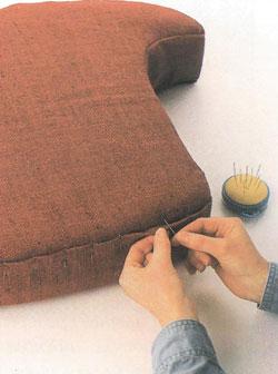 Шьём поролоновую подушку