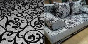 Флокирование ткани - новая технология, благодаря изменился интерьер, мебельный текстиль, шторы