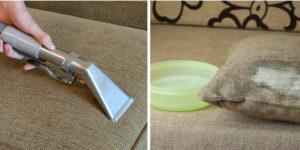 Чистка мебели из рогожки