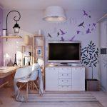 Мебель в спальню для девочки 12-15 лет