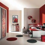 Дизайн интерьера спальни для девочки в стиле хай тек
