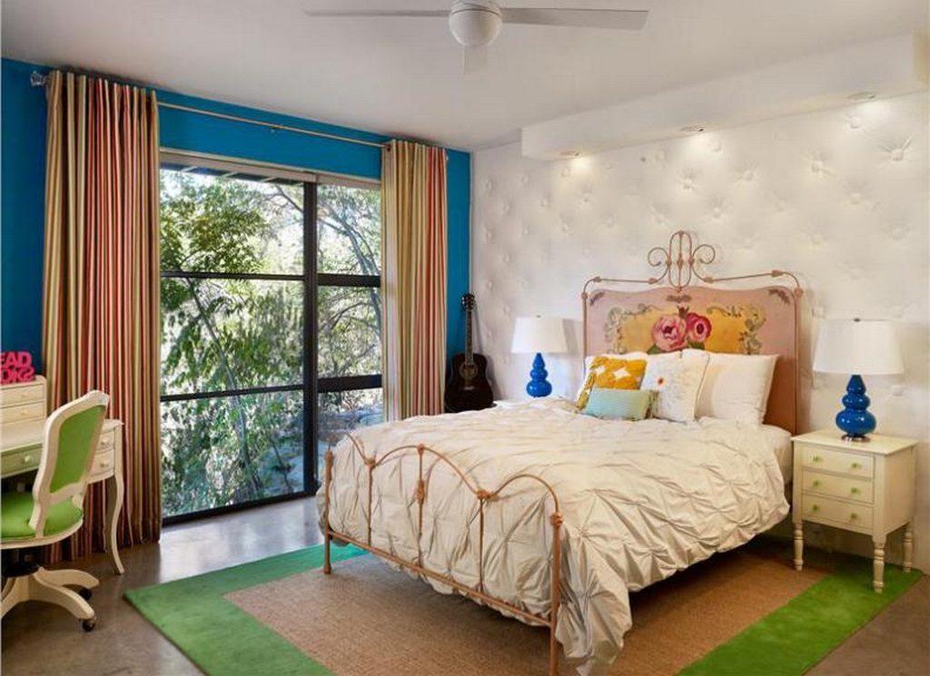 уютная спальня в стиле модерн