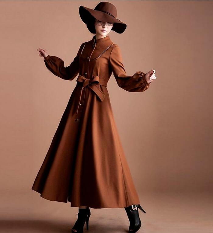 Удлинённое платье пальто