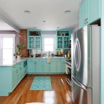 Кухня бирюзового цвета — 65 фото примеров удачного сочетания в интерьере кухни!
